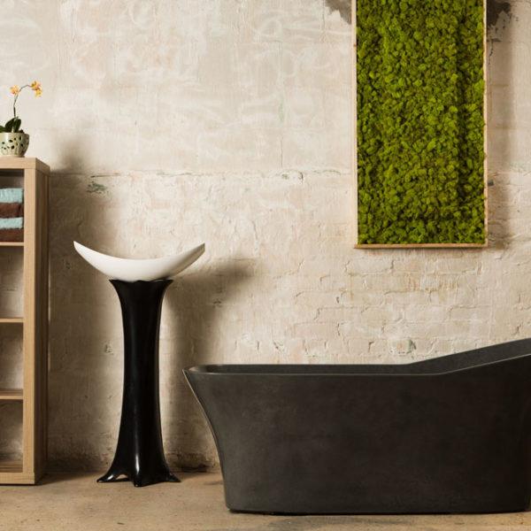 Banskah Heated Luxury Concrete Soaking Tub